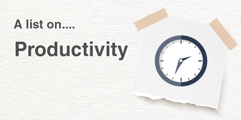 A List on Productivity